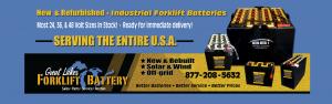 Refurnished forklift batteries Michigan Chicago