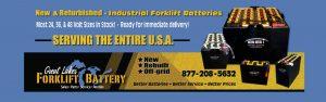 refurbished forklift batteries Michigan Chicago Indiana Ohio Kentucky Illinois