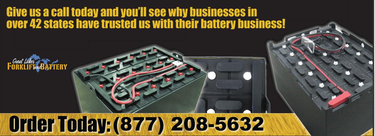Used refurbished industrial batteries Michigan Ohio