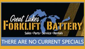 Forklift battery specials